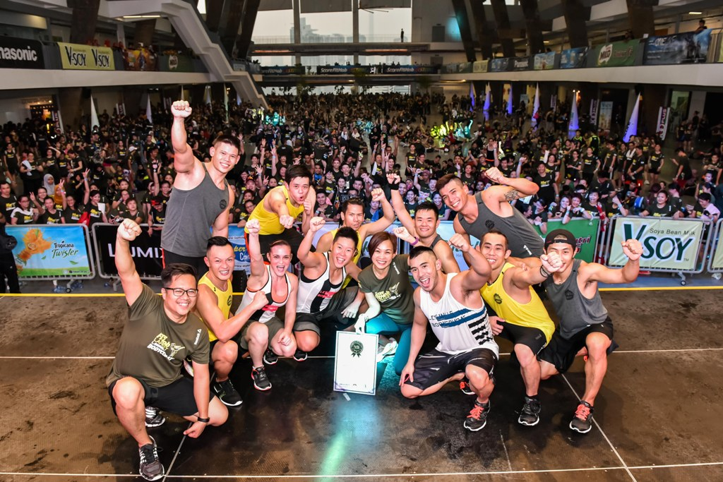 Les Mills Body COMBATR Class At SCORE FitMob Festival 2015 Breaks Malaysia Book Of Records