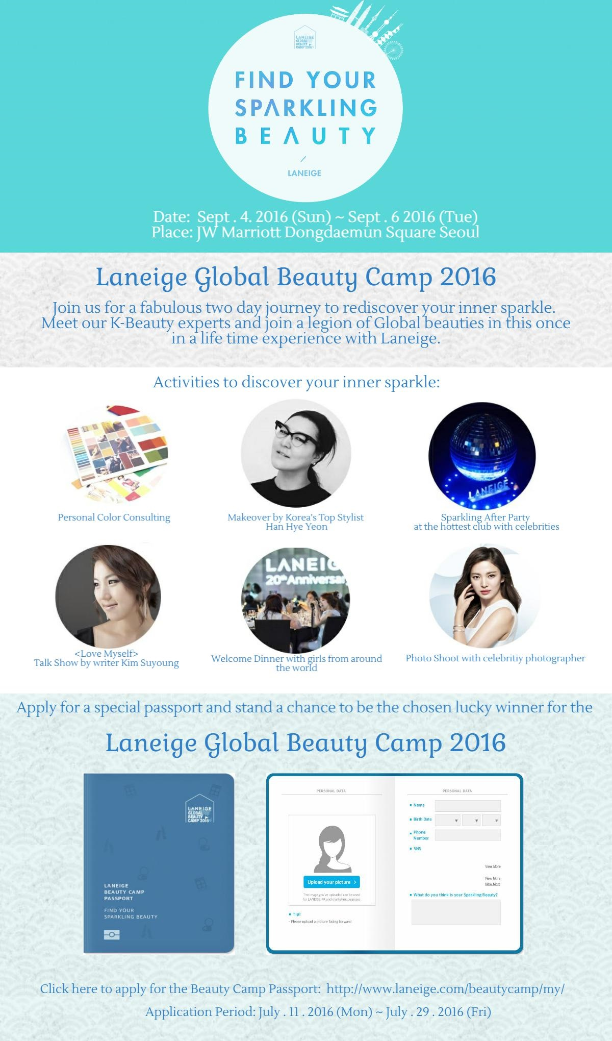 Calling Beauty Enthusiasts for Laneige Global Beauty Camp ...