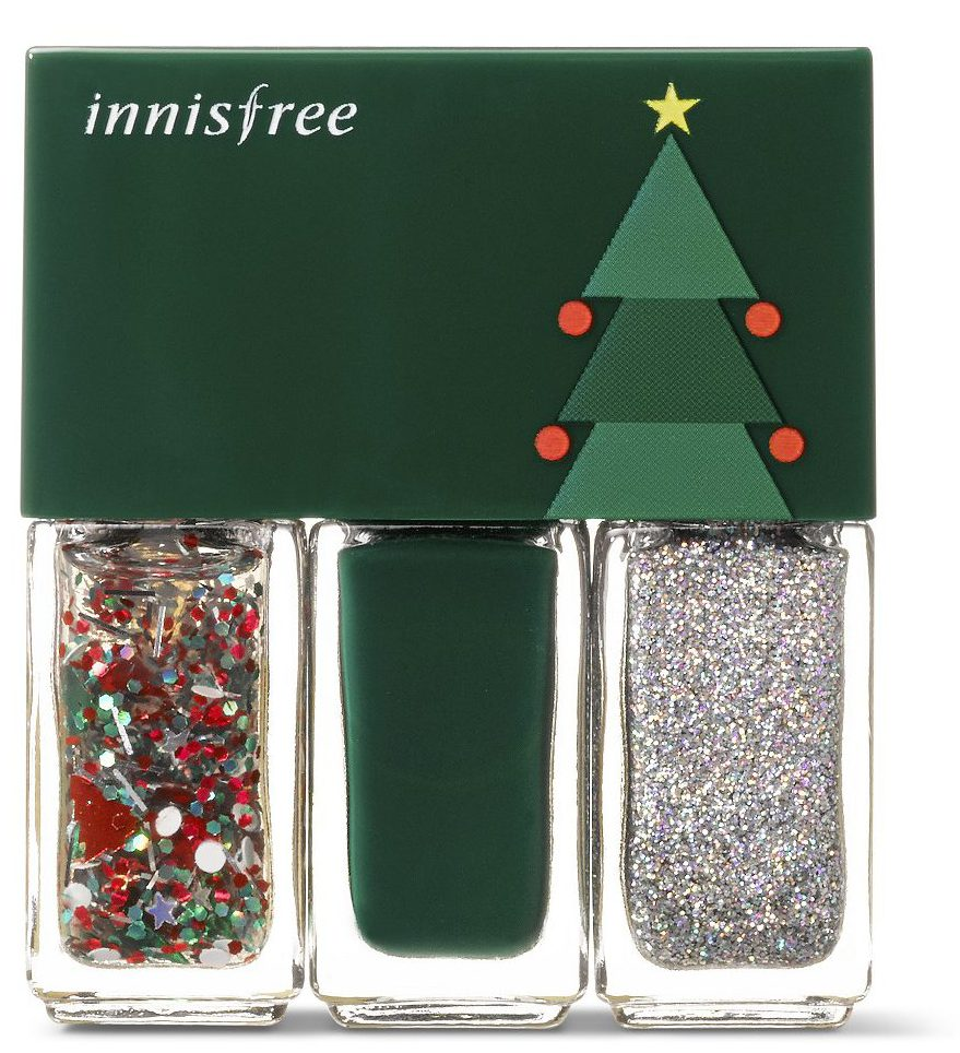 innisfree Christmas Real Color Nail Set- Green, RM36 | Pamper.My