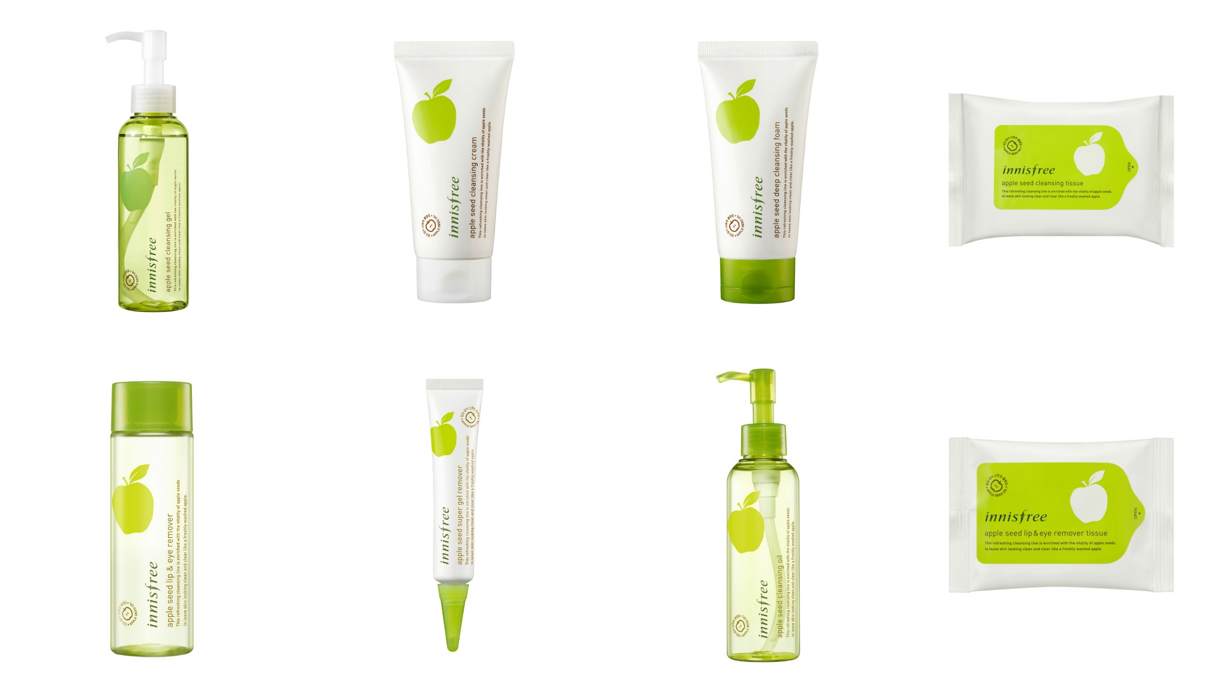 innisfree Apple Seed Cleansing Line Is Here To Make Makeup Removal A Breeze