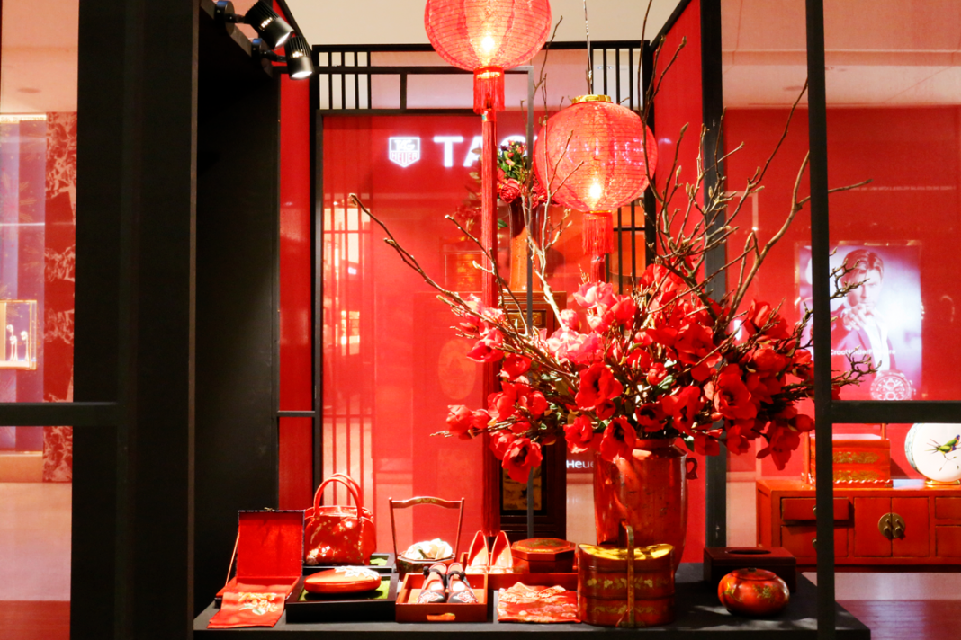 Chinese new year celebrations at the gardens mall pamper my for Decoration table nouvel an