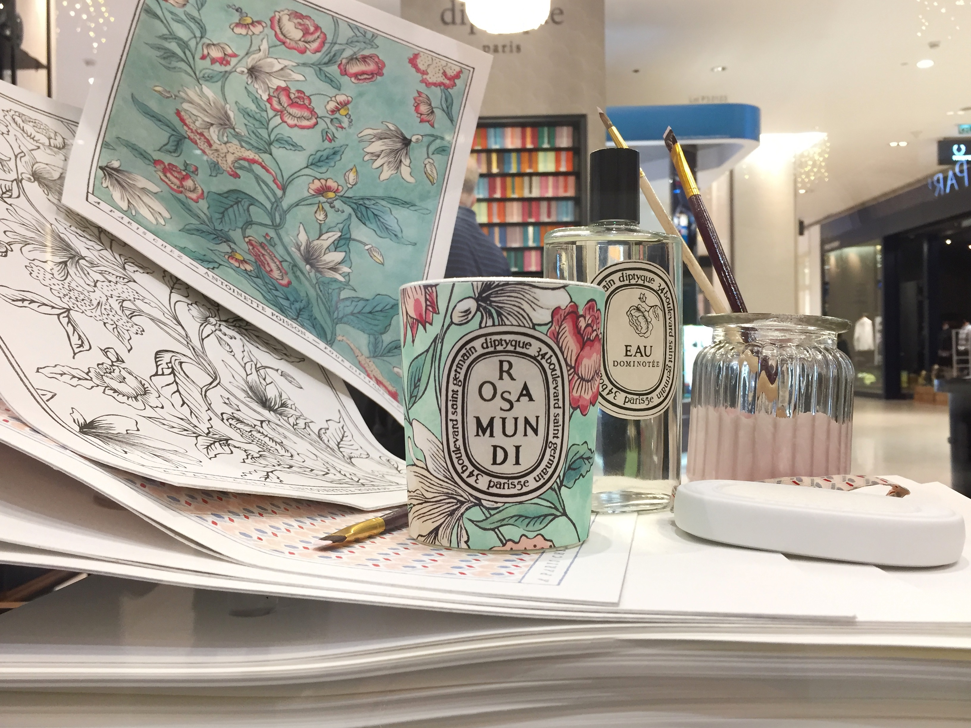 The rosa mundi collection a meeting between diptyque for Antoinette poisson