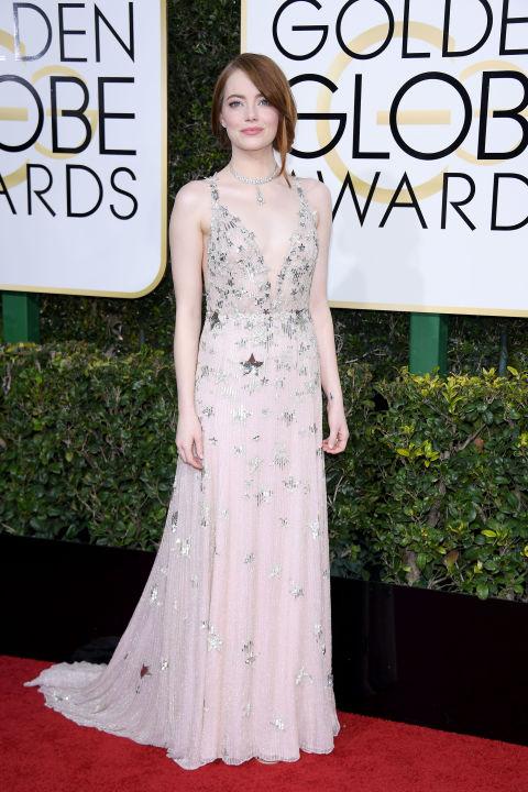 Golden Globes 2017: Best Dressed Stars, Emma Stone - Pamper.My