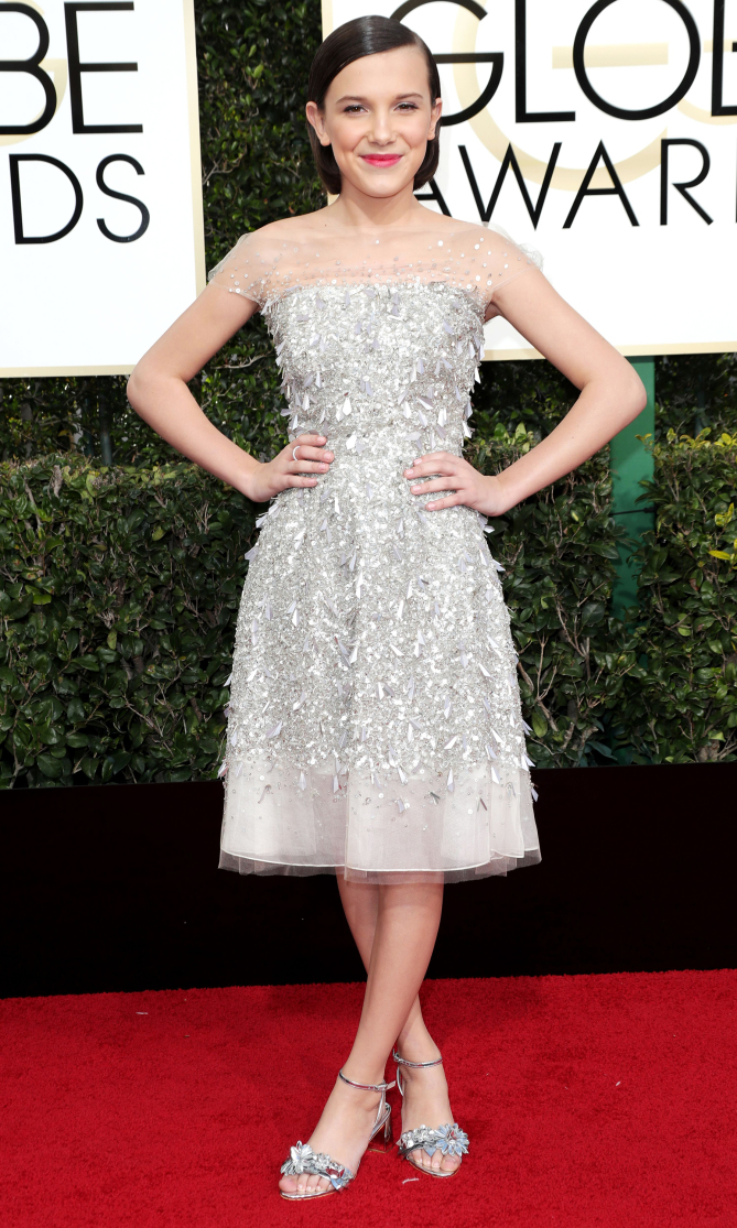 Golden Globes 2017: Best Dressed Stars, Millie Bobby Brown - Pamper.My