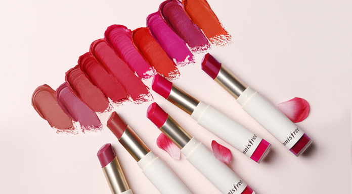 Get Velvety Lips In Beautiful Spring Colours With innisfree Real Fit Velvet Lipstick-Pamper.my
