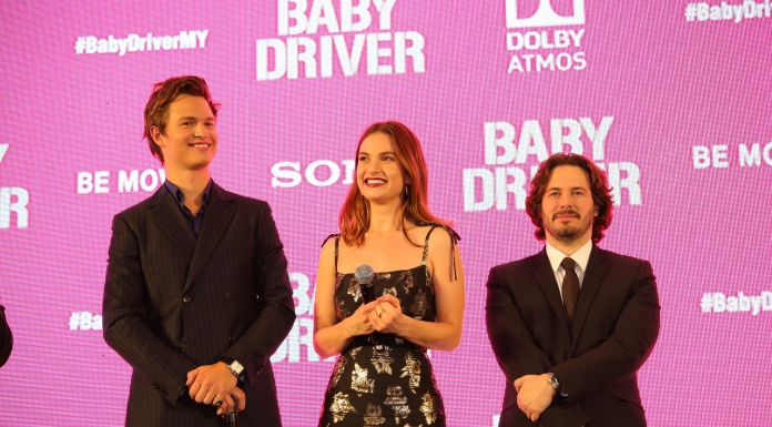 #Scenes: Baby Driver Press Conference and Red Carpet With Ansel Elgort, Lily James and Edgar Wright-Pamper.my