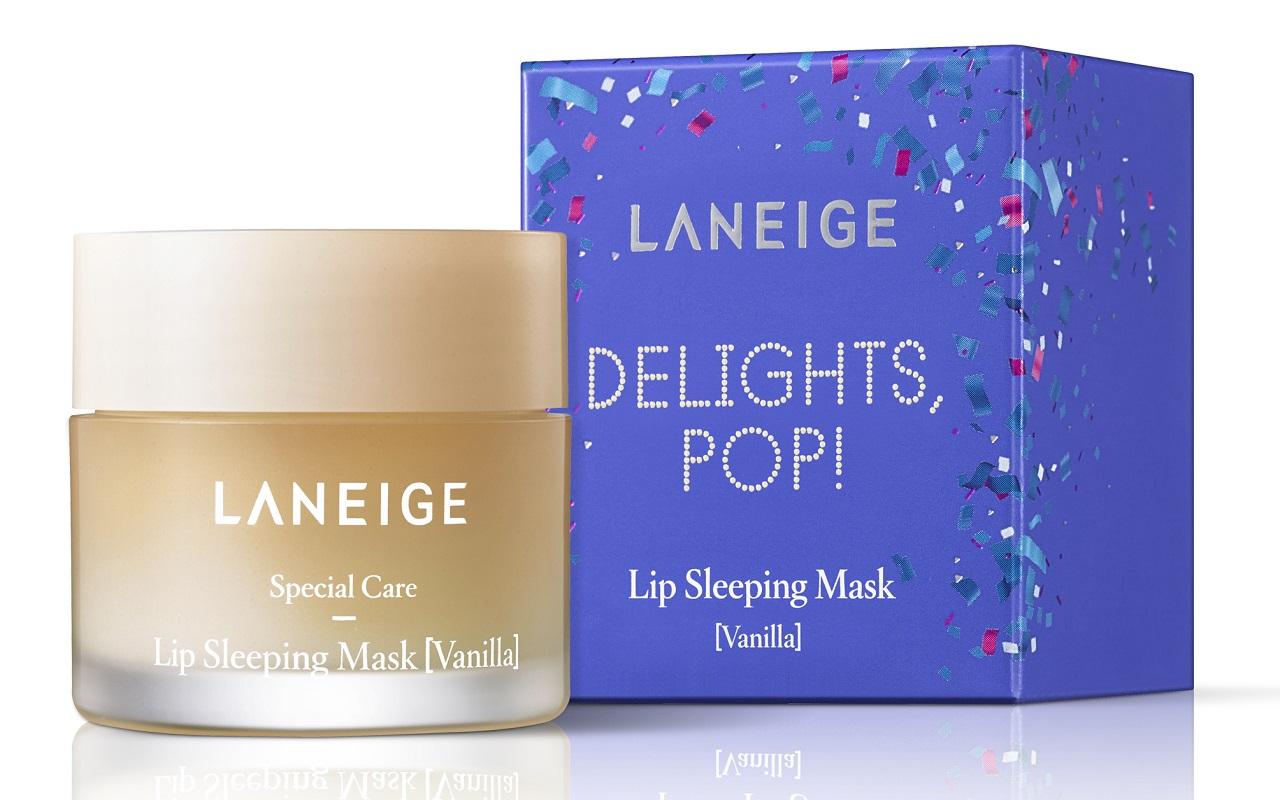 Laneige Delights Pop Lip Sleeping Mask Vanilla Rm75
