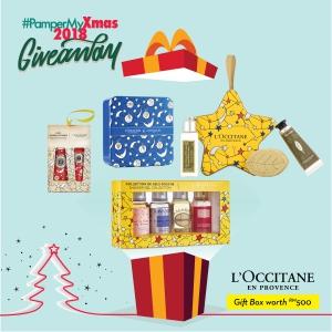 L'Occitane Gift Box worth up to RM500)