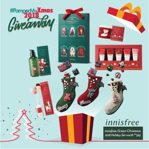 Innisfree Green Christmas 2019 Holiday Set worth RM565